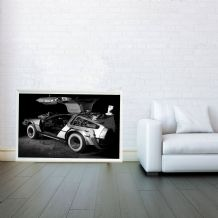 Back to the Future, DeLorean, Science Fiction Prints & Posters, Wall Art Print, Poster Any Size - Black and White Poster